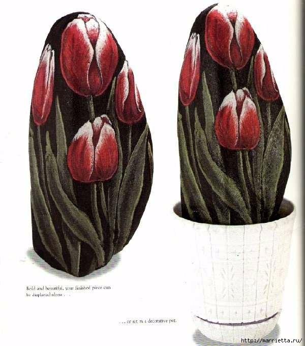 Тюльпаны на камне. Техника росписи (9) (600x680, 165Kb)