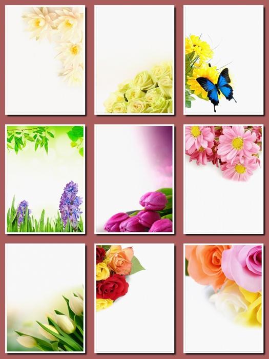 Фоны цветочные для оформления творческих работ, А4. 19  png. Часть 27.