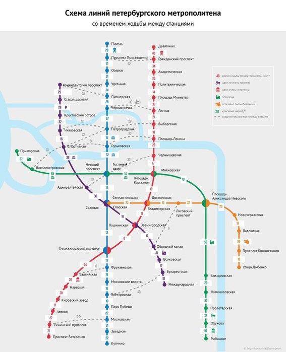 Схема метро санкт петербурга с расчетом времени фото 199