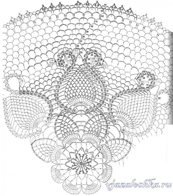 ананасы с круглыми лепестками сх (600x680, 261Kb)