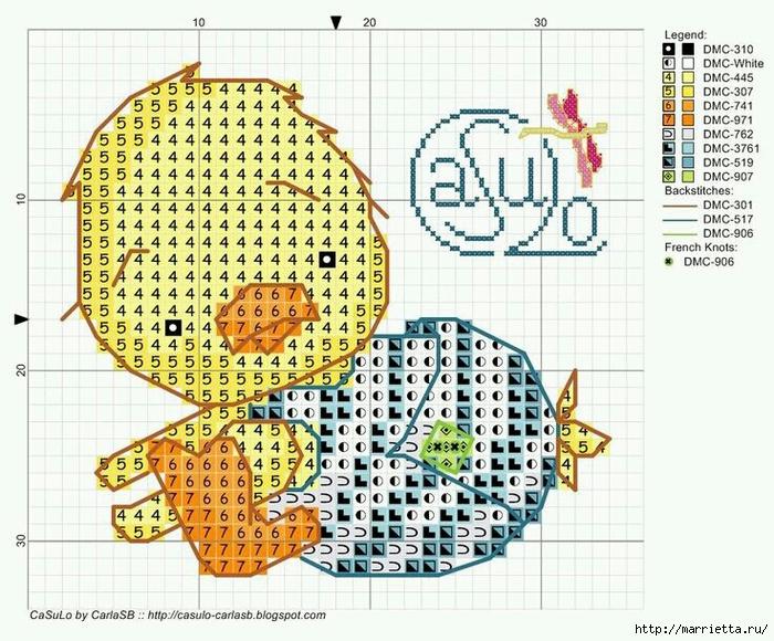 Малыши утята. Детская вышивка крестом (4) (700x580, 352Kb)