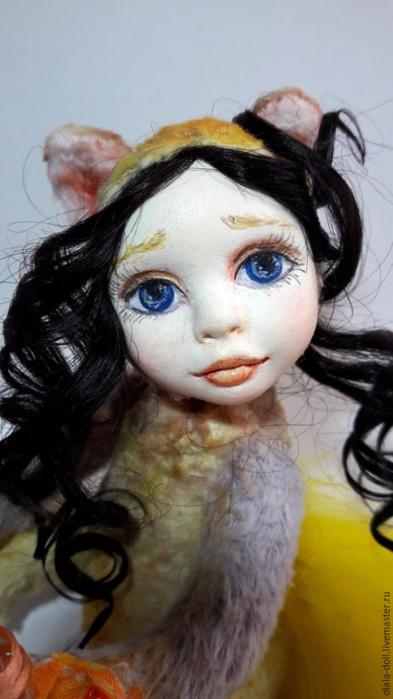 Тедди-долл из пластика. Роспись лица куклы (2) (393x700, 238Kb)