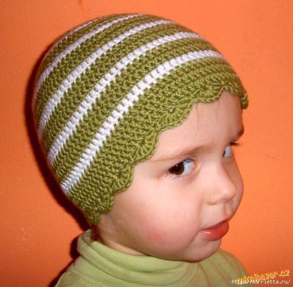 Детская шапочка крючком. Мастер-класс (1) (600x588, 165Kb)