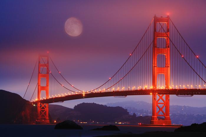 мост золотые ворота фото (700x466, 403Kb)