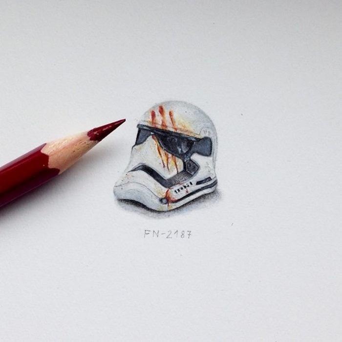Крошечные рисунки по мотивам знаменитых книг и фильмов (25 фото)