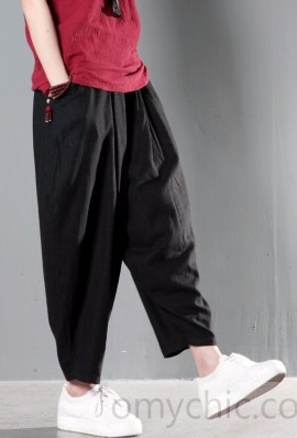 Black_stylish_linen_summer_pants_spring_harem_pants1 (270x398, 59Kb)