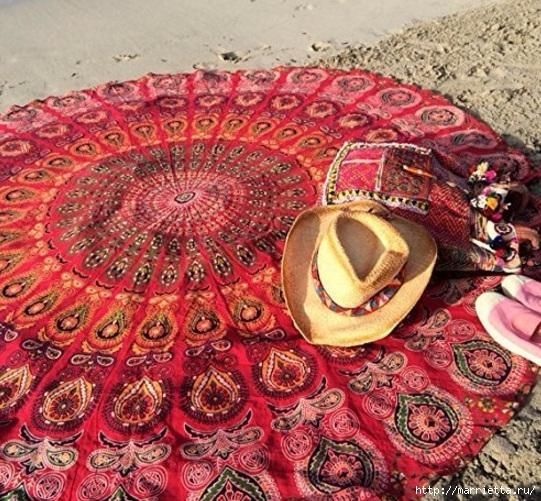 Мягкое изголовье кровати своими руками из коврика-мандалы (13) (541x501, 287Kb)