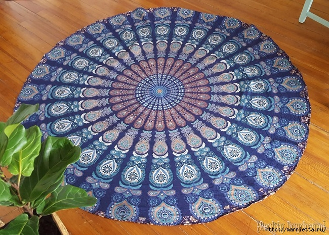 Мягкое изголовье кровати своими руками из коврика-мандалы (31) (650x465, 341Kb)