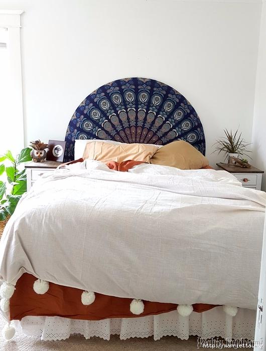 Мягкое изголовье кровати своими руками из коврика-мандалы (33) (530x700, 236Kb)