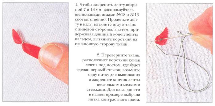 Ленты вышивка учиться