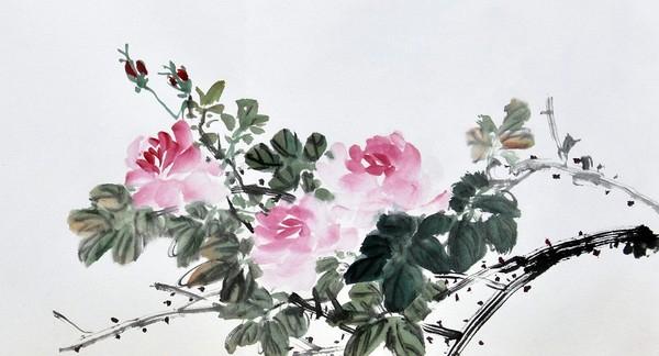 цветы в кинайской живописи 1 (600x324, 143Kb)