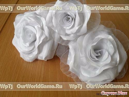 Розы из ткани и свадебная корзинка из картона своими руками (1) (500x375, 95Kb)