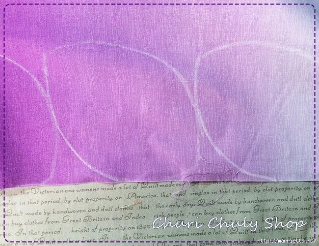 Розы из ткани. Подвеска для брелка своими руками (2) (650x500, 342Kb)