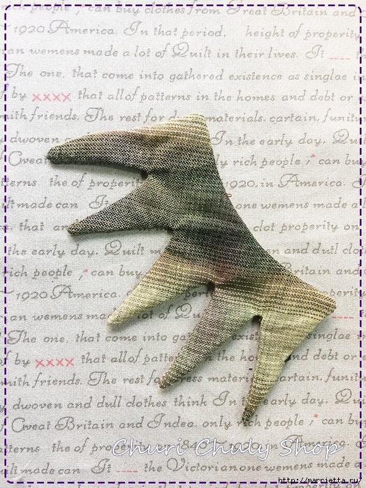 Розы из ткани. Подвеска для брелка своими руками (8) (524x700, 402Kb)