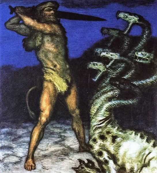 Hercules and the Hydra    1915 (545x599, 162Kb)