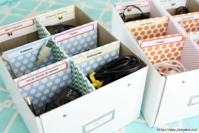 Идеи для хранения зарядных устройств своими руками