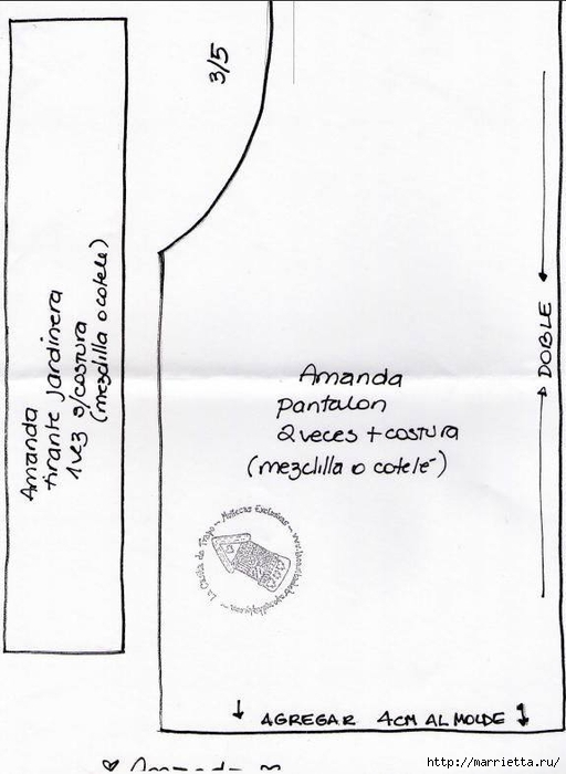 Выкройка куколки Аманды в шляпке (7) (512x700, 153Kb)