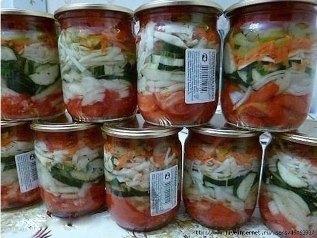 Рецепты салатов на зиму в банках без