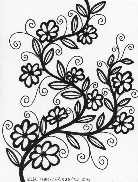 flower-coloring-pages (533x700, 242Kb)