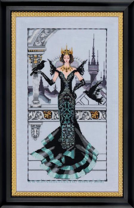 Схема вышивки королева