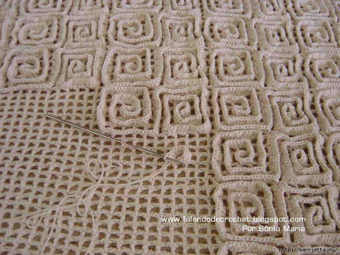 Вязаные крючком коврики на филейной сетке (25) (700x525, 251Kb)