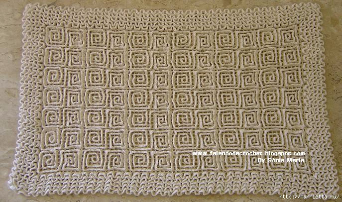 Вязаные крючком коврики на филейной сетке (29) (687x406, 256Kb)