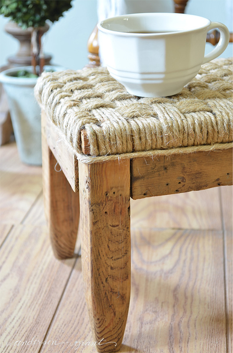 rustic DIY Footstool (463x700, 368Kb)