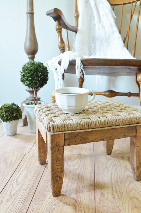 DIY Rustic Footstool from anderson + grant (463x700, 383Kb)
