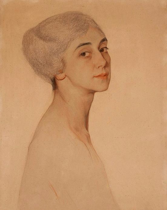 - Портрет балерины Тамары Карсавиной, 1915 (картон, пастель,  карандаш) (551x691, 243Kb)