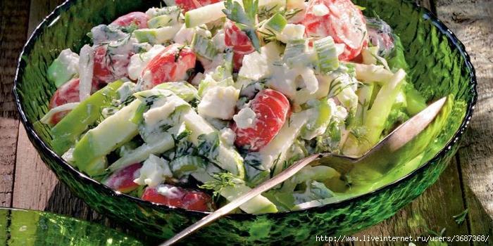 Летний салат с заправкой из брынзы (700x350, 258Kb)