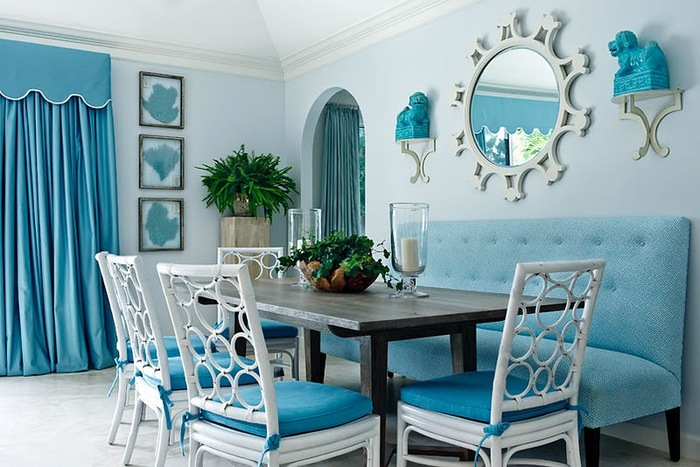 Dining room blue