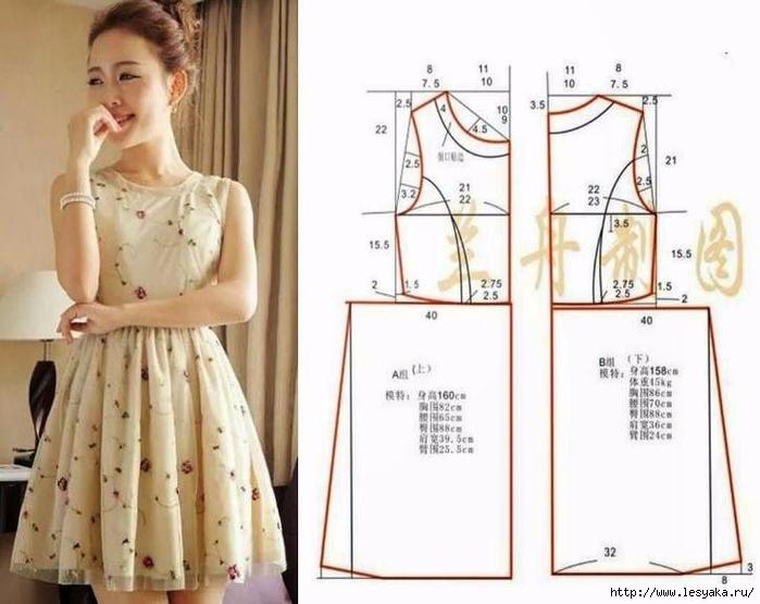 Как сделать выкройки платья в фото 839