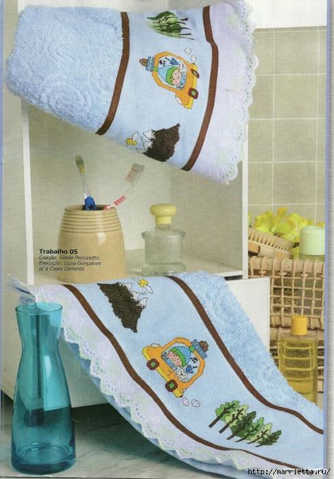 Вышивка для детского полотенца. Три идеи со схемами (4) (488x700, 302Kb)