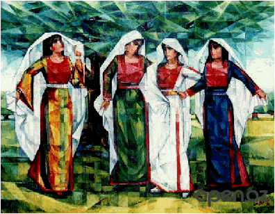1393666677_four_palestinian_girls_by_ismail_shammout (396x308, 147Kb)
