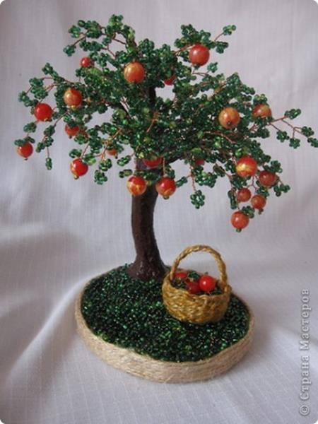 Сделать дерево яблоню своими руками