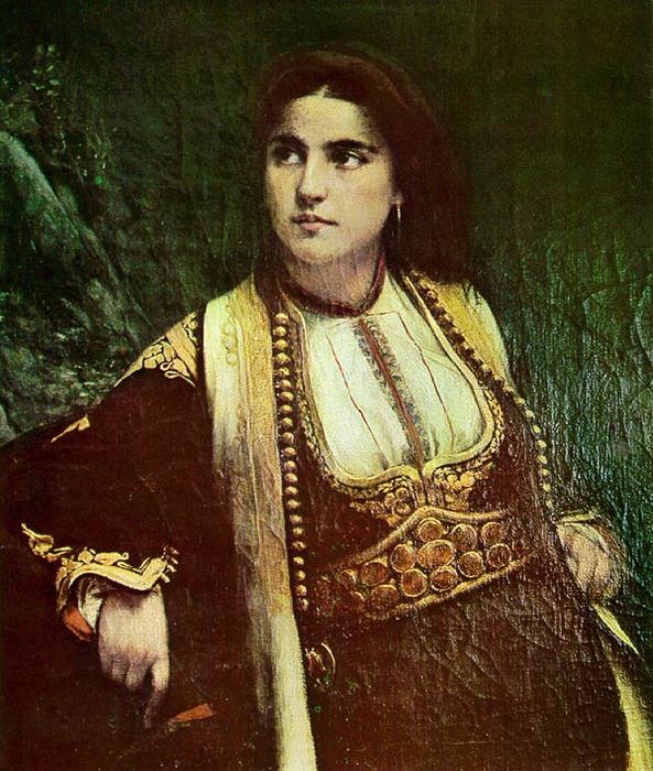 Bukovac.Vlaho.Crnogorka.A.Montenegrin.woman (593x700, 165Kb)