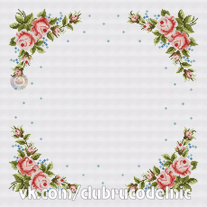 Tablecloth Rose (700x700, 657Kb)