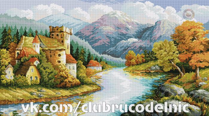 Замок у гор (700x388, 497Kb)