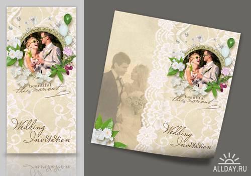 Скачать приглашение на свадьбу в формате photoshop