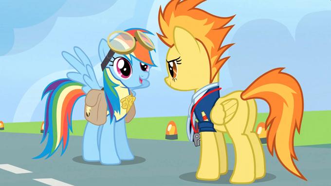 Rainbow_Dash_receives_the_lead_pony_badge_S3E7 (680x383, 216Kb)
