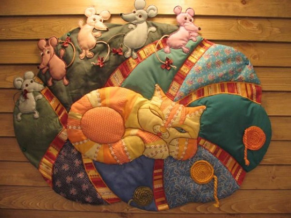 лоскутные одеяла с кошками 1 (600x450, 284Kb)