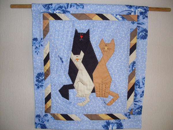 лоскутные одеяла с кошками 5 (600x450, 334Kb)