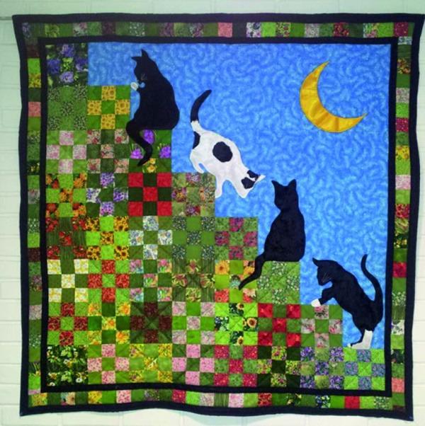 лоскутные одеяла с кошками 7 (600x602, 461Kb)