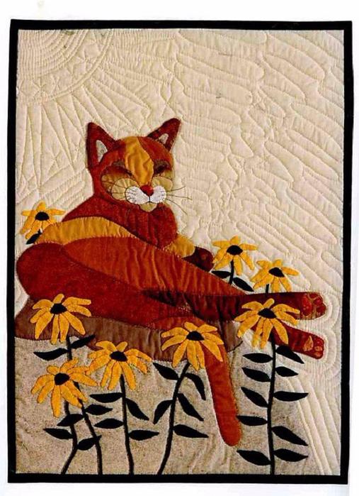 лоскутные одеяла с кошками 9 (507x700, 420Kb)