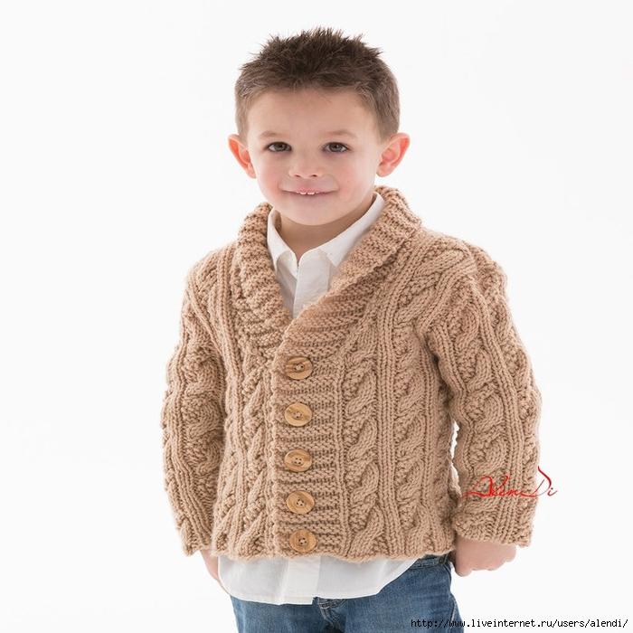 Вязание кардиган для мальчика 51