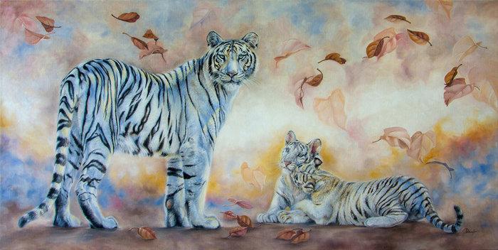 white_tiger_family_by_irenadem-d9lfgyl (700x352, 77Kb)