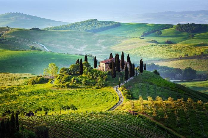 1-Красивые пейзажи. Тоскана. Италия (700x466, 472Kb)
