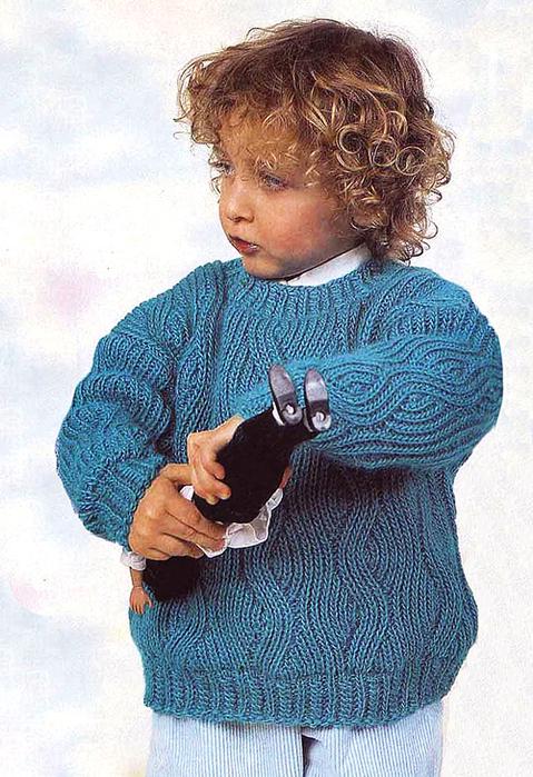 11 Пуловер с узором МТ2 (479x700, 418Kb)