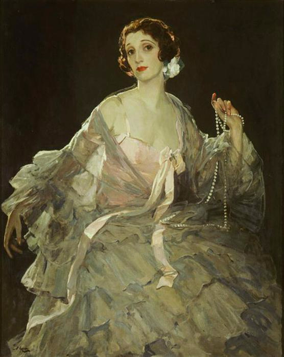 Lady Lavery (1880-1935), 1922. �������� Sir John Lavery (556x699, 238Kb)