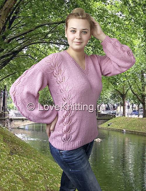 02 Автор Пуловер с аж полосами МТ2 (500x655, 397Kb)